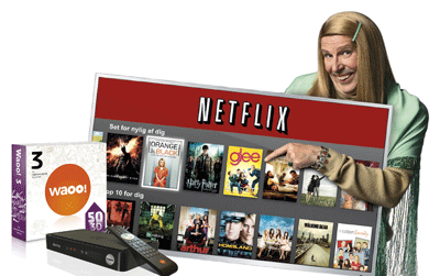 Waoo! kombinerer traditionelt tv med Netflix