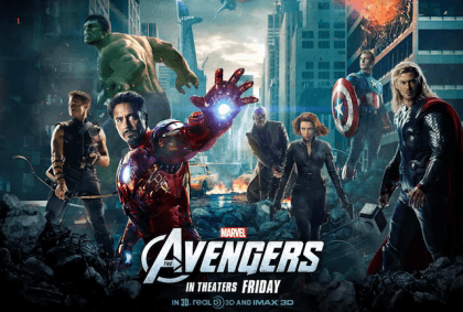 Superheltefilmen 'Marvels The Avengers' på Netflix