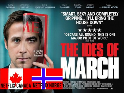 George Clooney i 'The Ides of March' på Netflix Canada