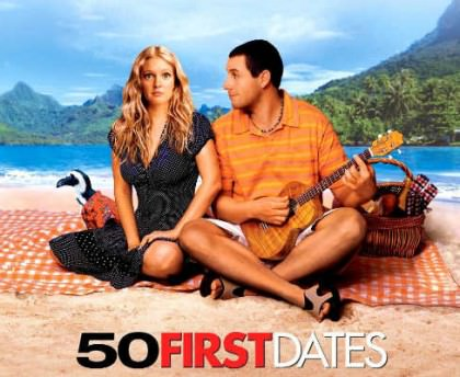 50 First Dates med Drew Berrymore og Adam Shandler